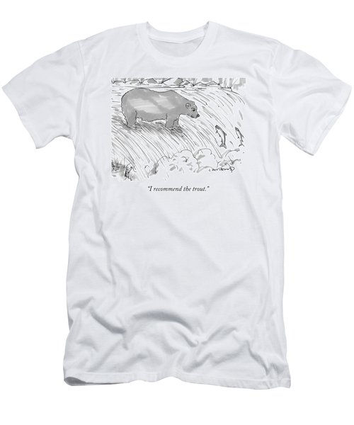 Two Salmon Jumping Upstream Men's T-Shirt (Athletic Fit)