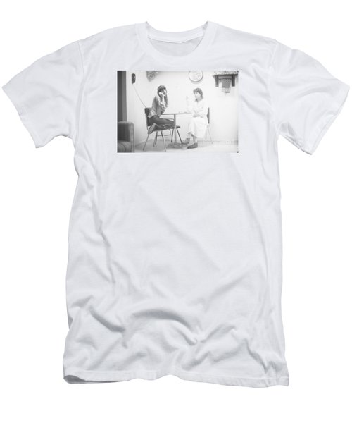 Men's T-Shirt (Slim Fit) featuring the photograph Two Sisters Project 12 by Steven Macanka