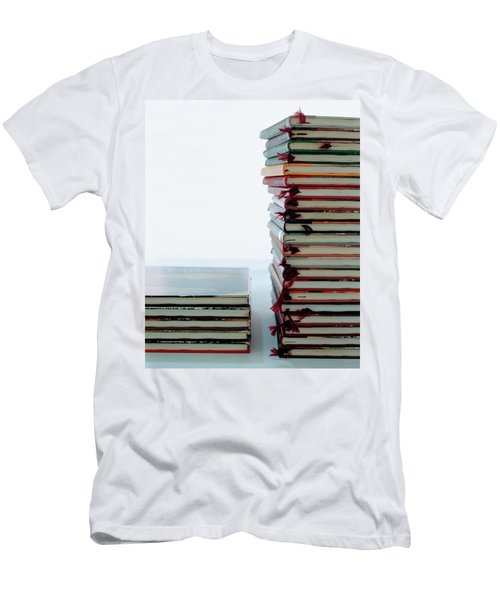 Two Stacks Of Books Men's T-Shirt (Athletic Fit)