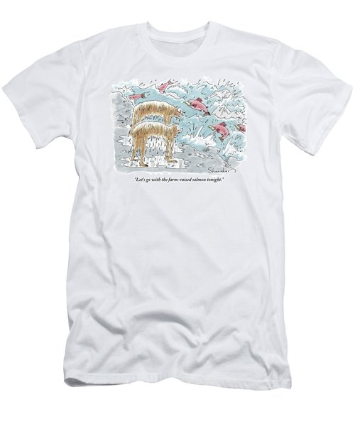 Two Wet Bears Look On In Horror Men's T-Shirt (Athletic Fit)