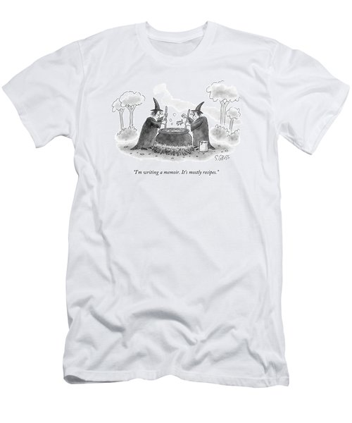 Two Witches Speak As One Throws A Frog Men's T-Shirt (Athletic Fit)