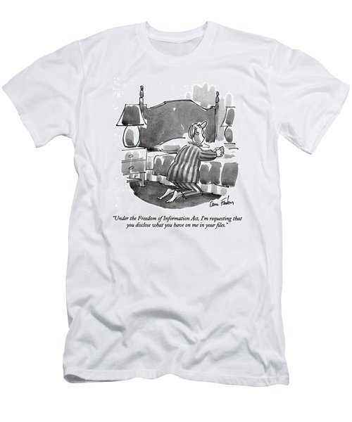 Under The Freedom Of Information Act Men's T-Shirt (Athletic Fit)