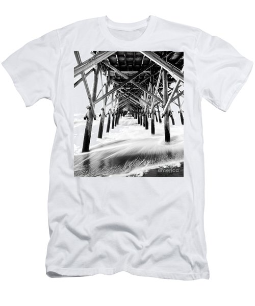 Under The Pier Folly Beach Men's T-Shirt (Athletic Fit)
