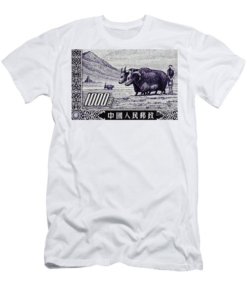 Under The Plough Vintage Postage Stamp Detail Men's T-Shirt (Athletic Fit)