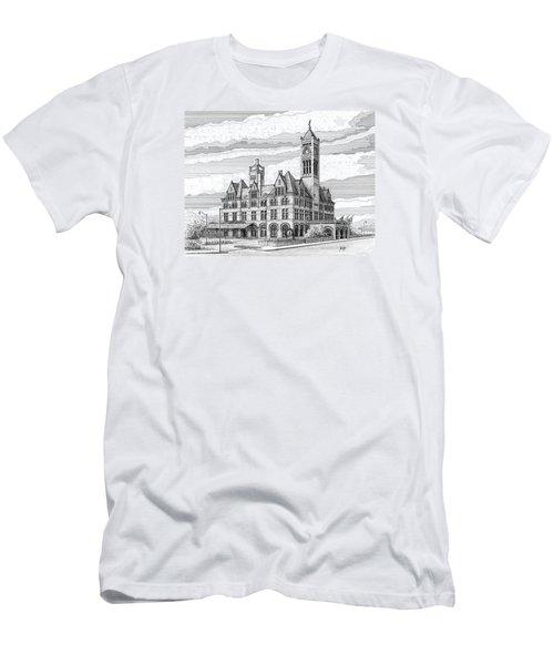 Union Station In Nashville Tn Men's T-Shirt (Slim Fit) by Janet King