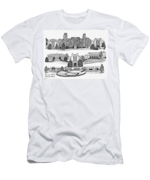 University Of Arkansas Fayetteville Men's T-Shirt (Slim Fit) by Liz  Bryant