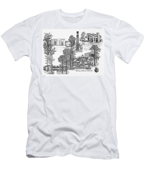 University Of Arkansas Men's T-Shirt (Slim Fit) by Liz  Bryant