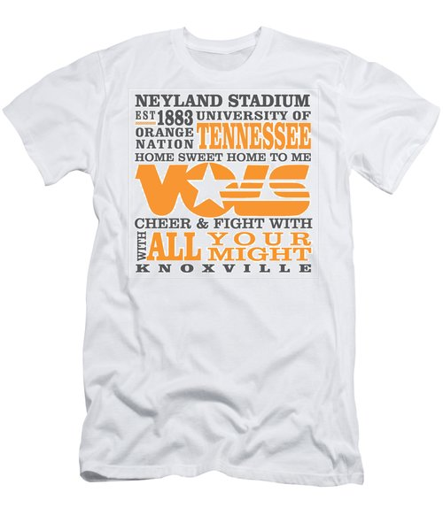 University Of Tennessee Graphic Canvas Men's T-Shirt (Athletic Fit)