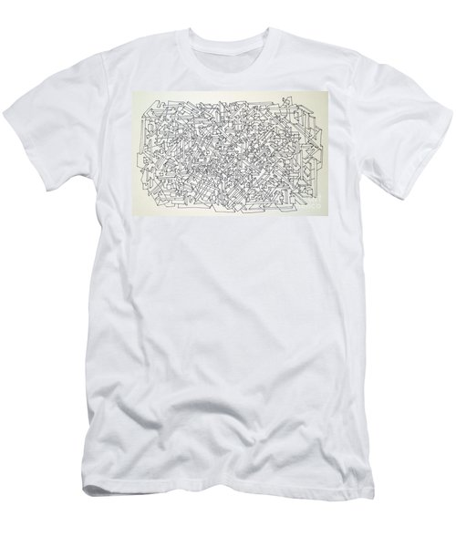 Men's T-Shirt (Slim Fit) featuring the drawing Urban Planning by Nancy Kane Chapman