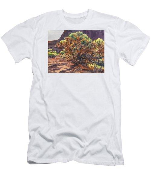 Men's T-Shirt (Slim Fit) featuring the painting Utah Juniper by Donald Maier
