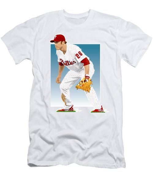 Utley In The Ready Men's T-Shirt (Slim Fit) by Scott Weigner