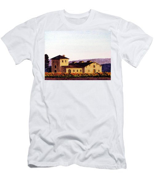 V. Sattui Winery Men's T-Shirt (Slim Fit) by Mike Robles