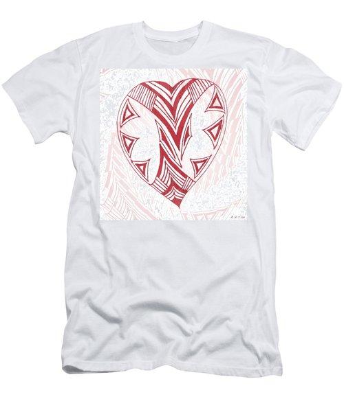 Valentine Heart Men's T-Shirt (Slim Fit) by Amanda Holmes Tzafrir