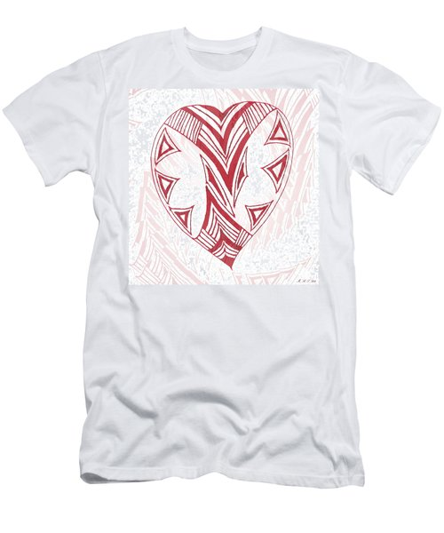 Valentine Heart Men's T-Shirt (Athletic Fit)