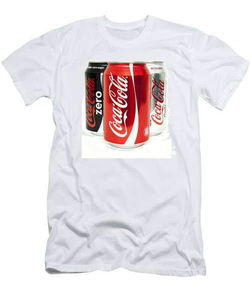 Various Coke Cola Cans Men's T-Shirt (Slim Fit) by Antony McAulay