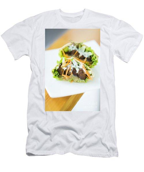 Vegetarian Falafel In Pita Bread Sandwich Men's T-Shirt (Athletic Fit)