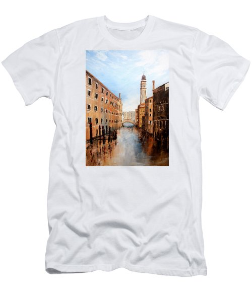 Men's T-Shirt (Slim Fit) featuring the painting Venice Italy by Jean Walker