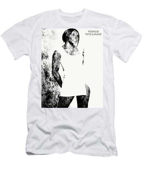 Venus Williams Paint Splatter 2c Men's T-Shirt (Slim Fit) by Brian Reaves