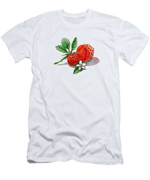 Artz Vitamins A Very Happy Raspberry Men's T-Shirt (Slim Fit) by Irina Sztukowski