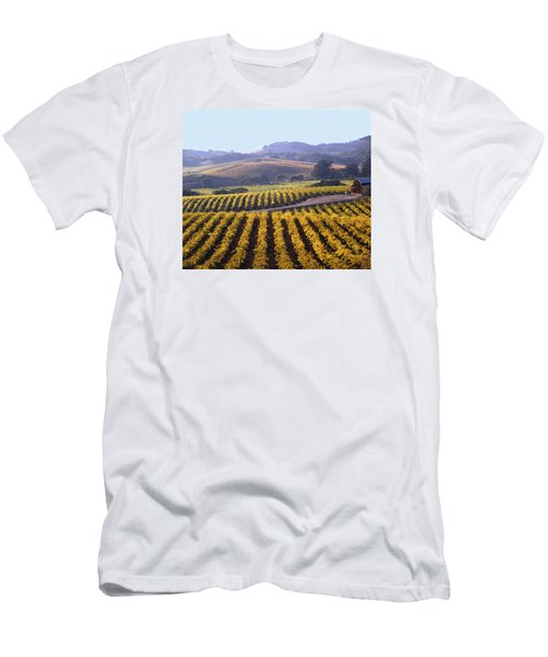 6b6386-vineyard In Autumn Men's T-Shirt (Athletic Fit)