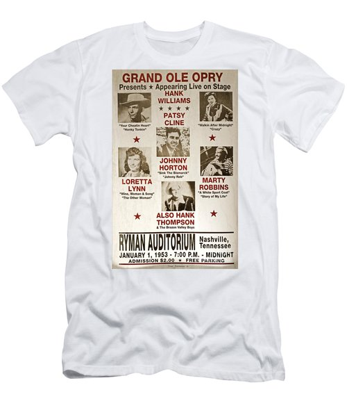 Vintage 1953 Grand Ole Opry Poster Men's T-Shirt (Slim Fit) by John Stephens