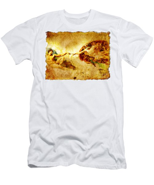 Vintage Art - The Creation Of Adam Men's T-Shirt (Athletic Fit)