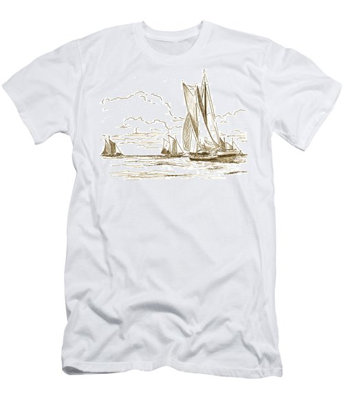 Vintage Oyster Schooners  Men's T-Shirt (Athletic Fit)