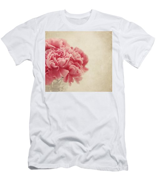 Vintage Pink Carnations Men's T-Shirt (Athletic Fit)