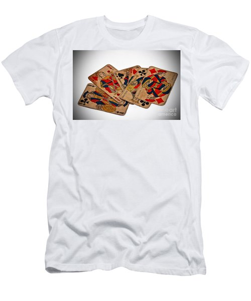 Vintage Playing Cards Art Prints Men's T-Shirt (Athletic Fit)
