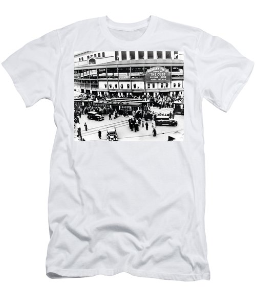 Vintage Wrigley Field Men's T-Shirt (Slim Fit) by Bill Cannon