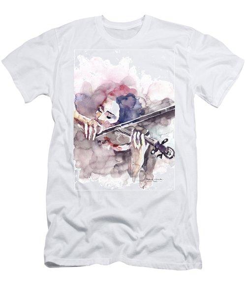 Violin Prelude Men's T-Shirt (Slim Fit) by Faruk Koksal