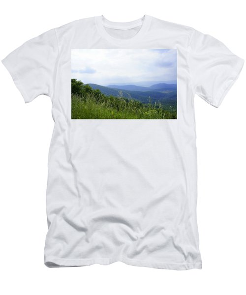 Men's T-Shirt (Slim Fit) featuring the photograph Virginia Mountains by Laurie Perry