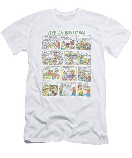Vive La Resistance Men's T-Shirt (Athletic Fit)