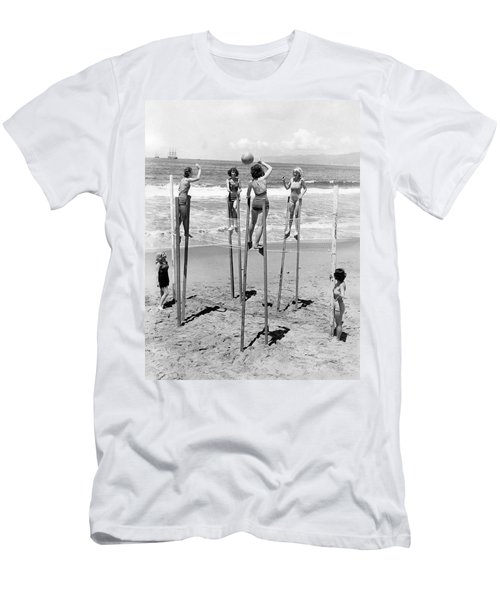 Volleyball On Stilts Men's T-Shirt (Athletic Fit)
