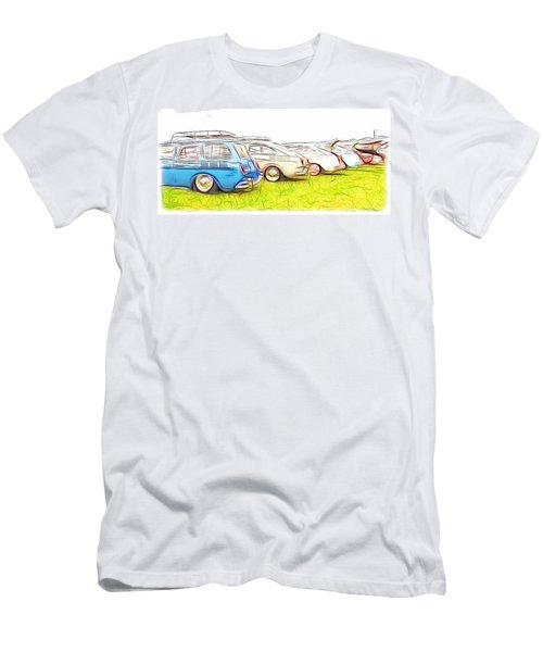 Vw Squareback Art Men's T-Shirt (Athletic Fit)