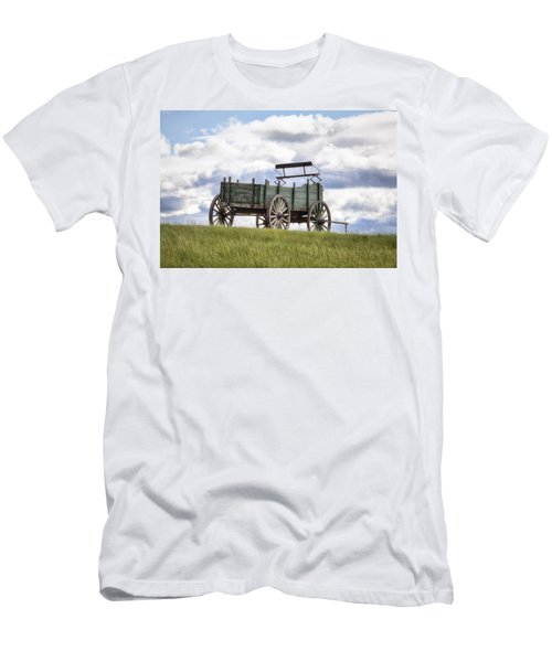 Wagon On A Hill Men's T-Shirt (Athletic Fit)