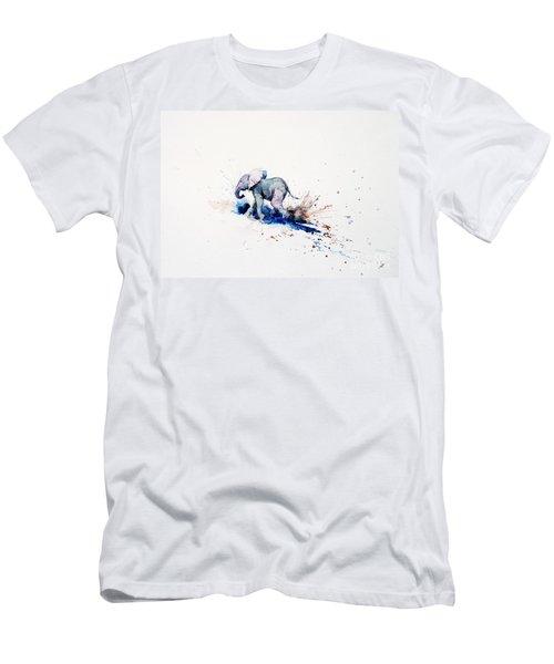 Wait For Me Men's T-Shirt (Slim Fit) by Zaira Dzhaubaeva