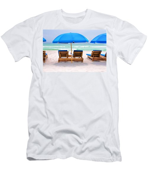 Panama City Beach Digital Painting Men's T-Shirt (Athletic Fit)