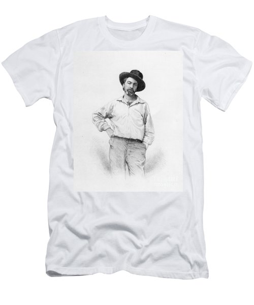 Walt Whitman Frontispiece To Leaves Of Grass Men's T-Shirt (Athletic Fit)
