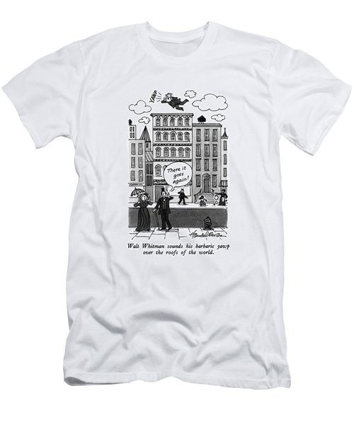 Walt Whitman Sounds His Barbaric Yawp Men's T-Shirt (Athletic Fit)
