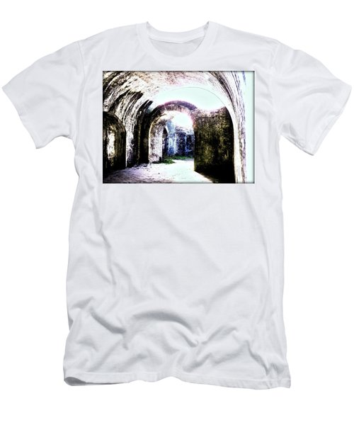 War At Fort Pickens Men's T-Shirt (Slim Fit) by Faith Williams