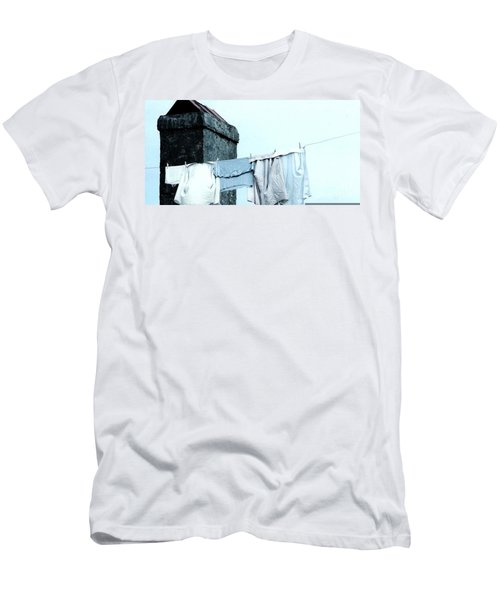 Men's T-Shirt (Slim Fit) featuring the photograph Wash Day Blues In New Orleans Louisiana by Michael Hoard