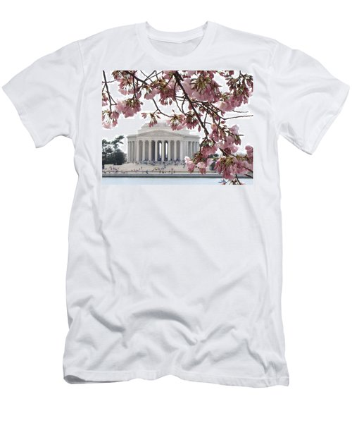 Washington Dc In Bloom Men's T-Shirt (Slim Fit) by Jennifer Wheatley Wolf