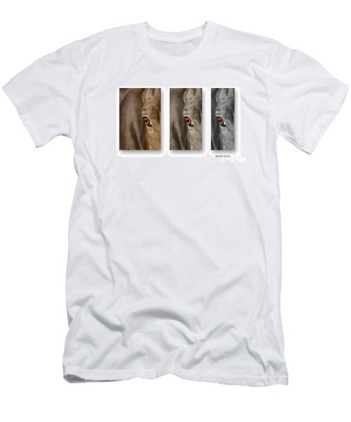 Watchful Triptych Men's T-Shirt (Slim Fit) by Michelle Twohig