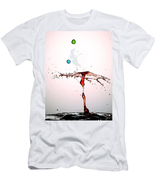 Water Droplets Collision Liquid Art 11 Men's T-Shirt (Athletic Fit)