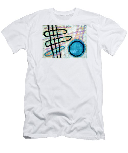 Men's T-Shirt (Slim Fit) featuring the painting Water Frequency by Maria Huntley