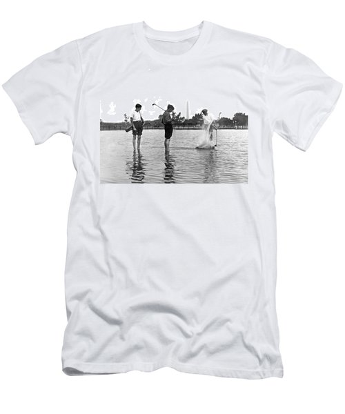 Water Hazard On Golf Course Men's T-Shirt (Athletic Fit)