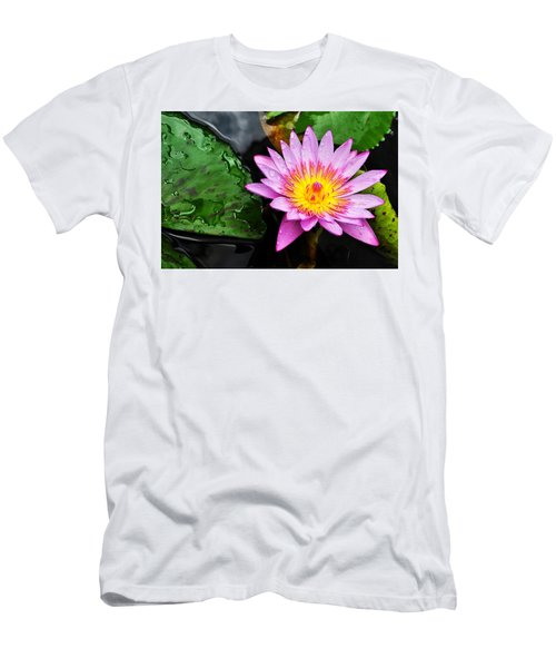 Water Lily Men's T-Shirt (Slim Fit) by Denise Bird