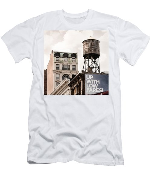 Water Towers 14 - New York City Men's T-Shirt (Athletic Fit)
