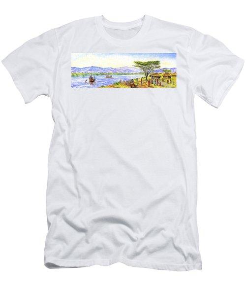 Water Village Men's T-Shirt (Athletic Fit)